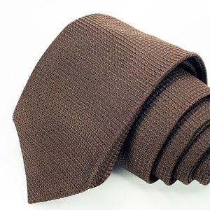 Hugo Boss Tie Dark Green Silk Solid Pattern